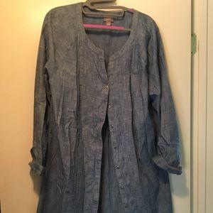 Chambre J Jill Shirt Dress, Large